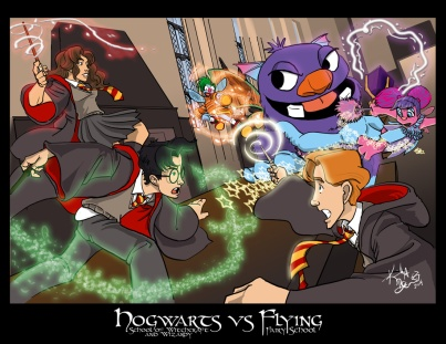 Hogwarts vs Fairy School web