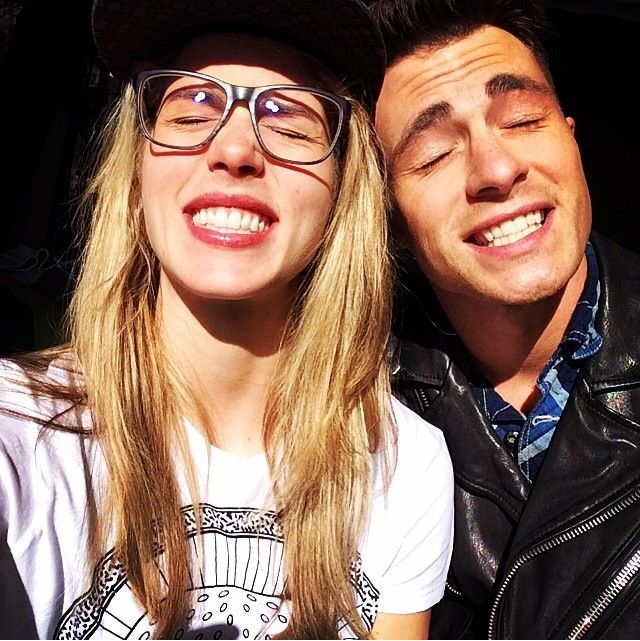 Emily Bett Rickards with cool, fun, Boyfriend